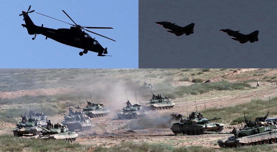 Les forces aériennes participent aux deux côtés des exercices.