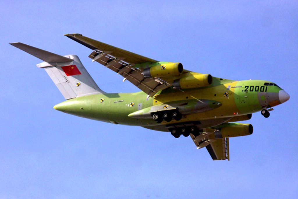 Le premier prototype du Y-20, immatriculé 20001, a effectué son vol inaugural le 26 Janvier 2013.