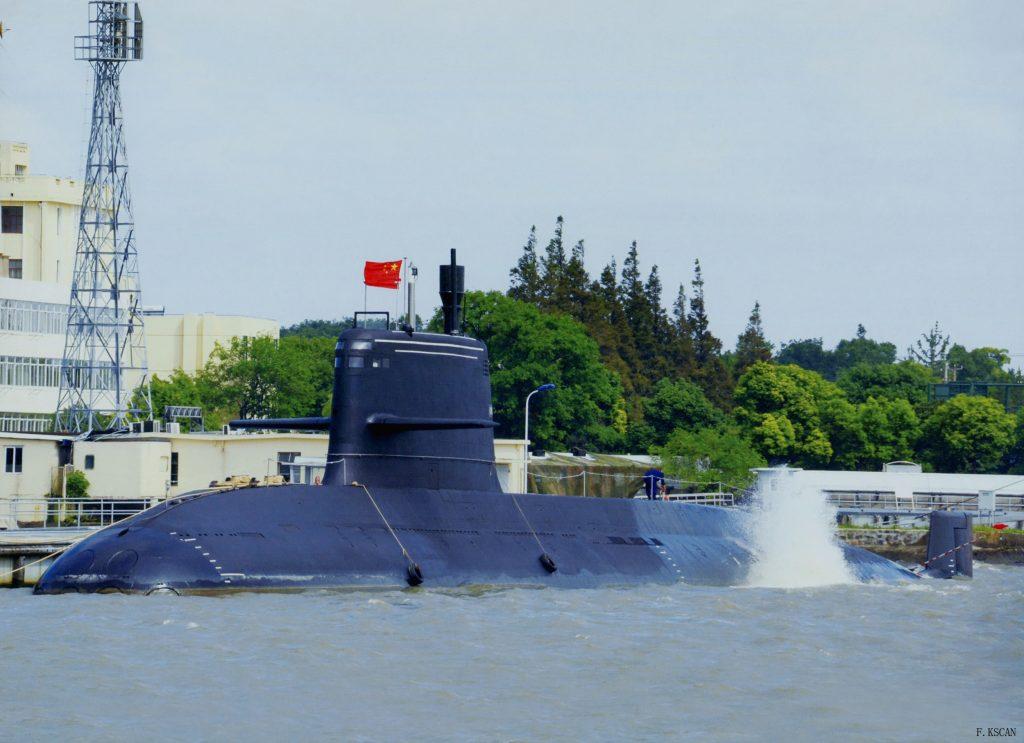 Un SSK de Type 039B Batch 2, on remarque sa forme plus arrondie par rapport aux Type 039A et Type 039B.