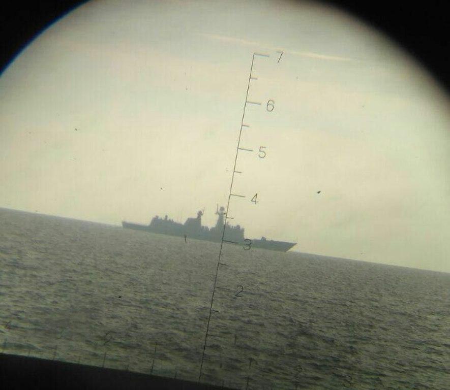 Les deux autres bâtiments présents sont la frégate 571 Yuncheng de Type 054A et le navire de sauvetage sous-main 863 Yongxingdao de Type 925.
