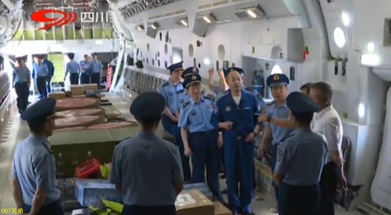 La soute de l'un des deux premiers Y-20 entrés en service