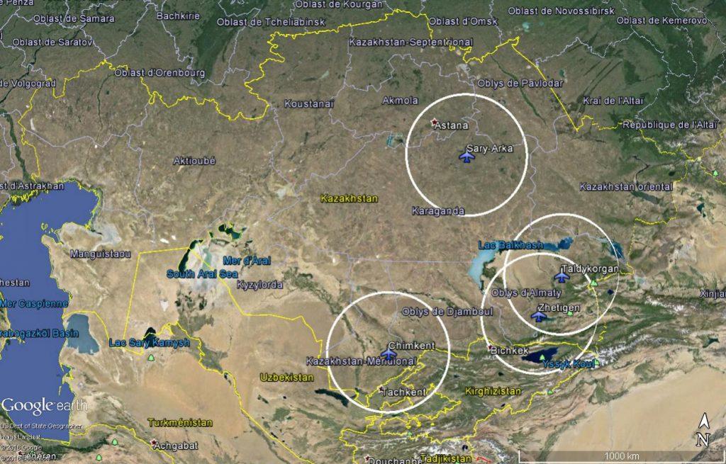4 bases aériennes kazakhes qui pourraient héberger les drones Wing Loong